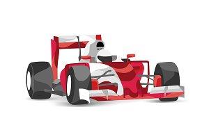 Trendy stylized race car