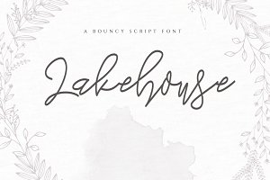 Lakehouse - Handwritten Script Font