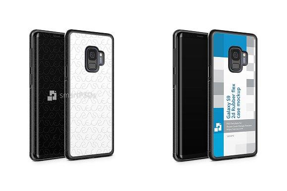 Galaxy S9 2d RubberFlex Case Mockup