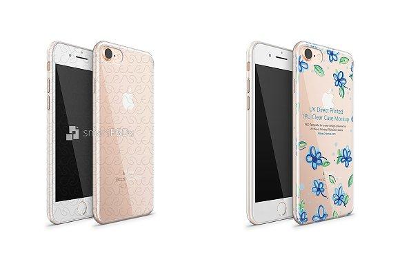 IPhone 8 UV TPU Clear Case Mockup