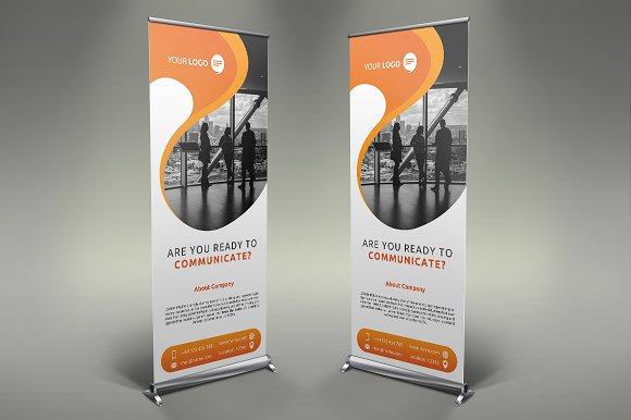 Communication Roll Up Banner #105