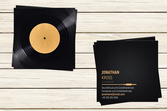 Dj business card template flyer templates creative market dj business card template flyers wajeb Image collections