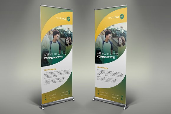 Communication Roll Up Banner #108