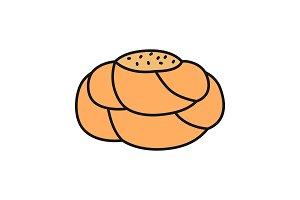 Pastry bread color icon