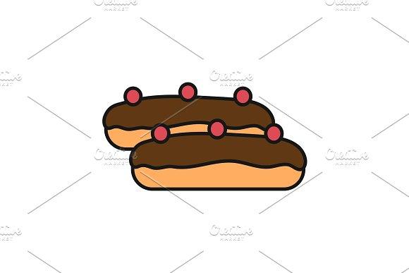 Eclair Cake Color Icon