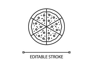 Pizza linear icon
