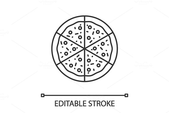 Pizza Linear Icon