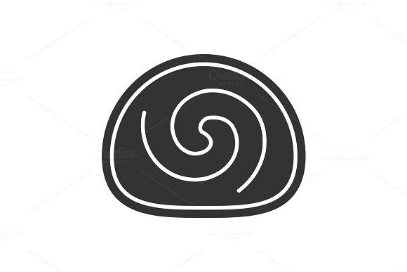 Swiss Roll Glyph Icon