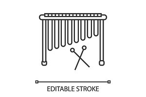 Marimba linear icon