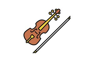Violin color icon