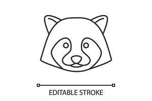 Raccoon linear icon