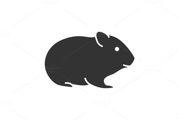 Hamster Glyph Icon