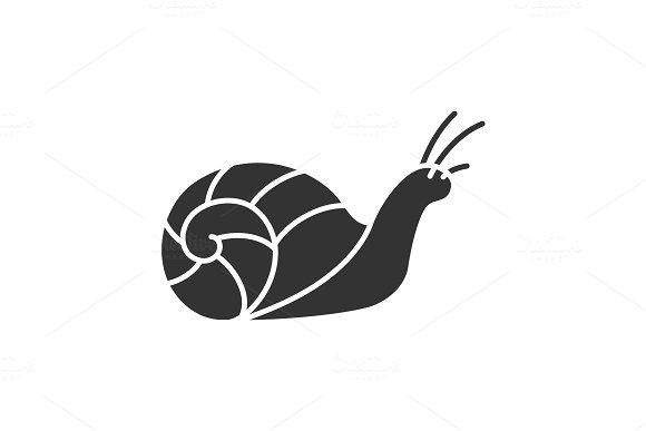 Snail Glyph Icon