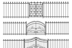 Gates and iron fence