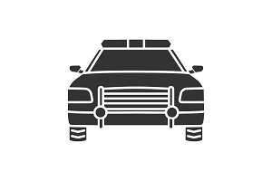 Police car glyph icon