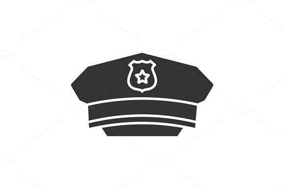 Policeman Hat Glyph Icon