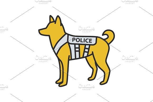 K9 Police Dog Color Icon