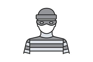 Robber color icon