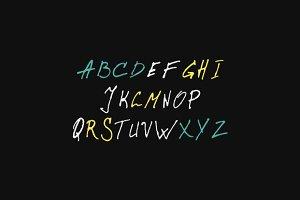 hand lettering Calligraphic alphabet