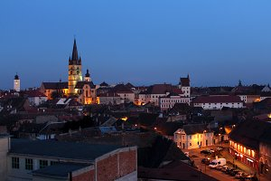 Sibiu at Night