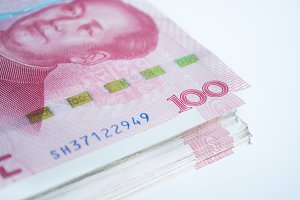 Yuan banknotes from China's currency