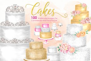 100 - HUGE Watercolor Cakes BUNDLE