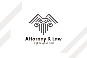 Attorney/law/lawyer logo template.