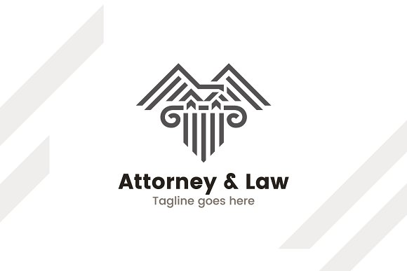 Attorney Law Lawyer Logo Template