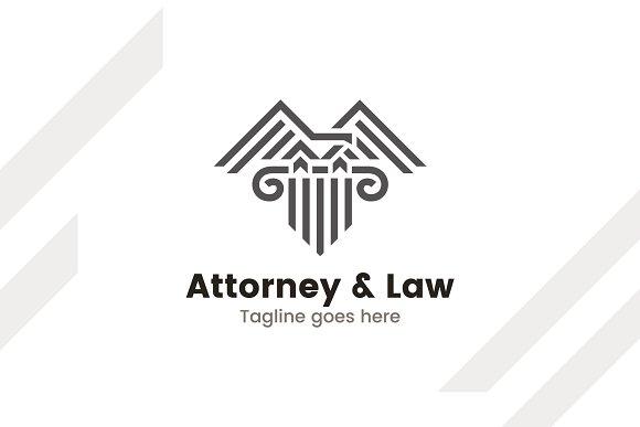 Attorney Law Lawyer Logo Template