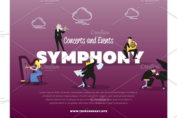 Concerts And Events Symphony Banner
