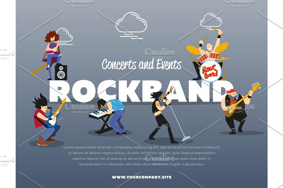 Concerts And Events Rockband Banner