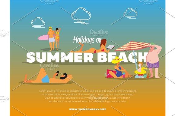 Holidays On Summer Beach Banner