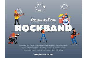 Concert and events rockband banner