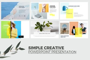 Simple Creative Powerpoint Template