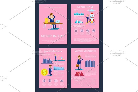 Money Income Business Start Up Vector Illustration