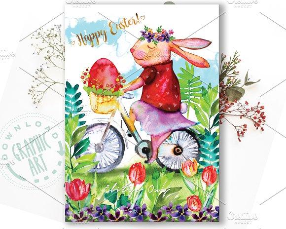 Easter Bunny Printable Card
