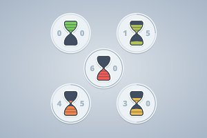 Hourglass timer icons