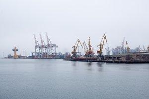 Cargo crane sea port