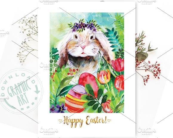 Printable Card Easter Bunny