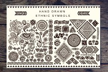 Set of Ethnic ornaments and symbols