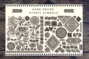 Set of Ethnic ornaments and symbols