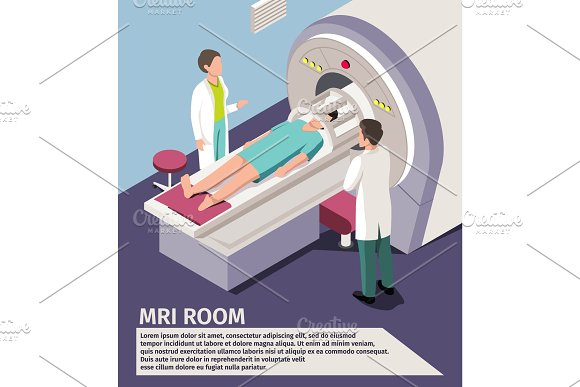 Medicine Concept MRI Scan And Diagnostics Patient Lying Scanner Machine In Hospital