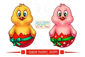 Easter Chicken in Egg Shell
