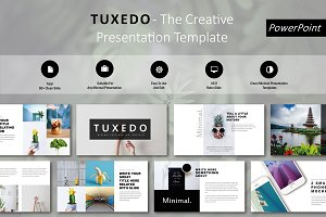 Tuxedo Minimal PowerPoint Template