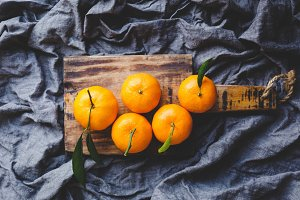 Yellow mandarins