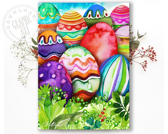 Printable Card Easter Eggs