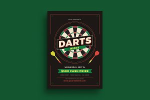 Darts Night Event Flyer