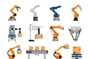 Automation icons set
