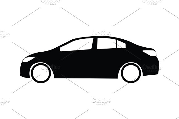Vector Of Silhouette Car