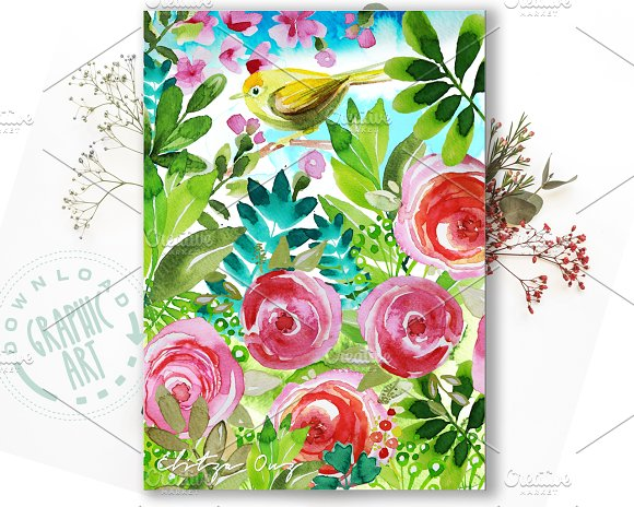Printable Cards Easter Bird